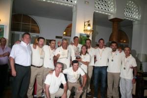 El equipo andaluz de Corcheo posa con el título nacional logrado el pasado año.