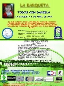 Cartel del III Concurso Benéfico 'Todos con Daniela'.