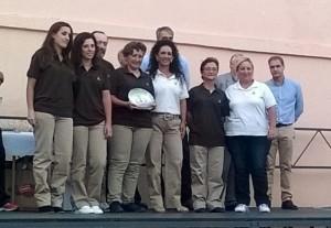 El equipo andaluz celebra su cuarta posición en Badajoz.