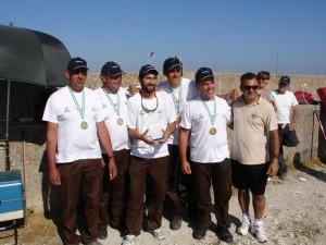 El C.D.P. Castillo de Luna posando como nuevos campeones de Corcheo.